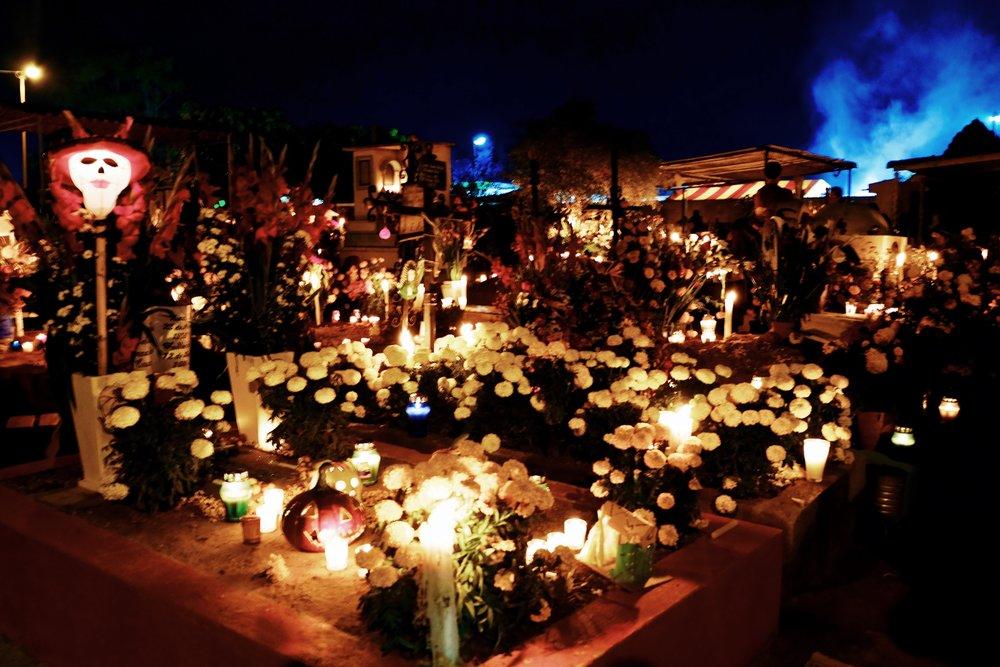 The newer cemetery in Xoxocotlan, outside of Oaxaca City.