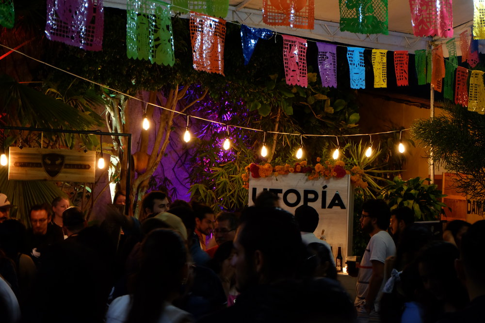 The party didn't stop when the beer began to sell out. The lights were dimmed and the Mezcal came out.