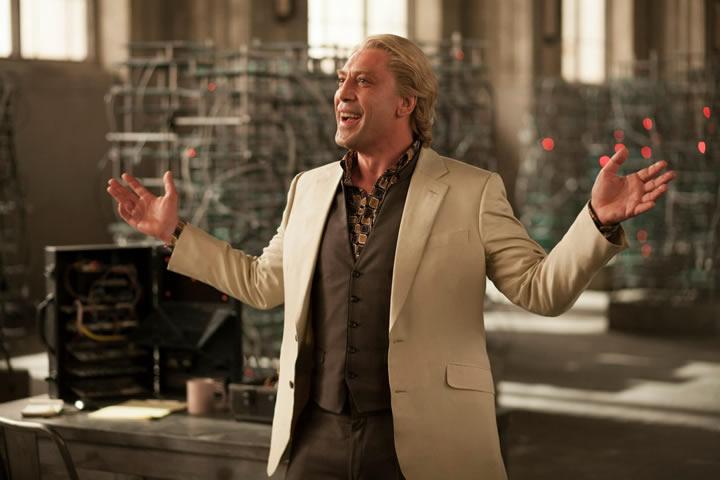 Silva (Javier Bardem) regals Bond with a tale of rats.