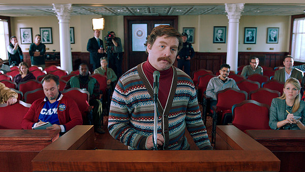 Galifianakis inhabits the character of Marty Huggins.