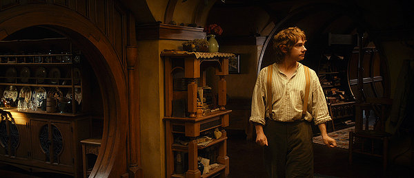 """In a hole in the ground there lived a hobbit"" named Bilbo Baggins (Martin Freeman)"
