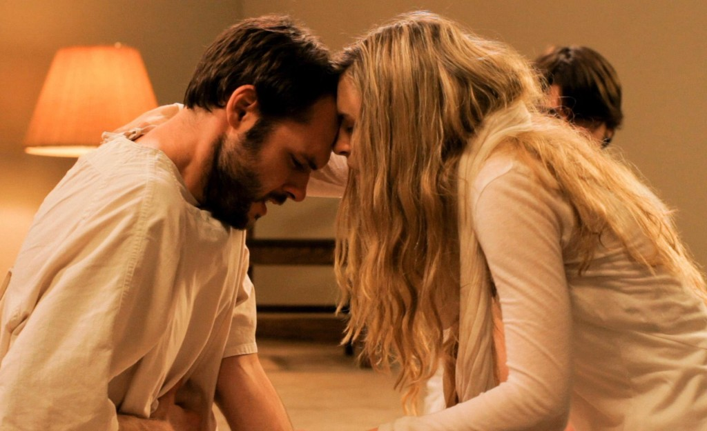 Maggie (Brit Marling) forces Peter (Christopher Denham) to let go of his past.