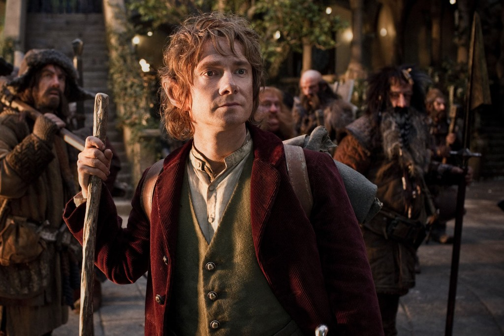 Bilbo (Martin Freeman) awaits the continuation of his journey.