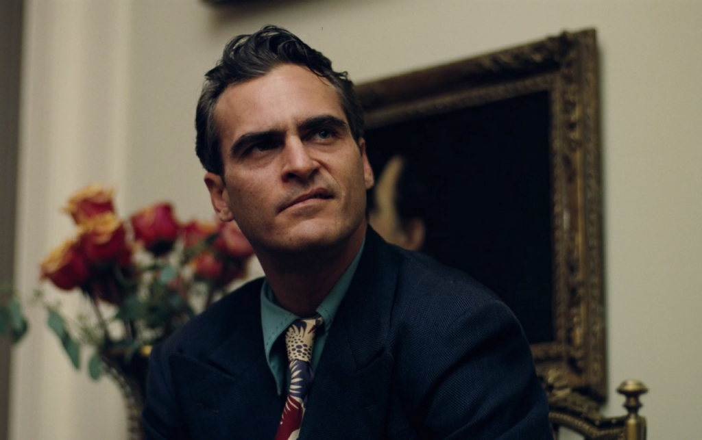 Joaquin Phoenix's Freddie Quell in Paul Thomas Anderson's THE MASTER.