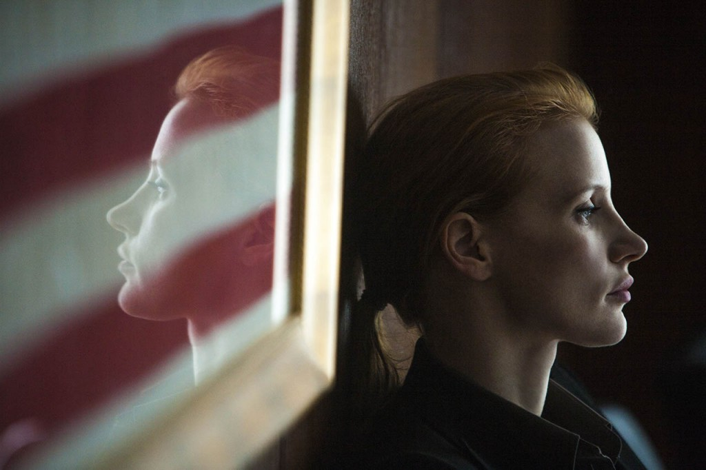 Jessica Chastain's Maya in Kathryn Bigelow's ZERO DARK THIRTY.