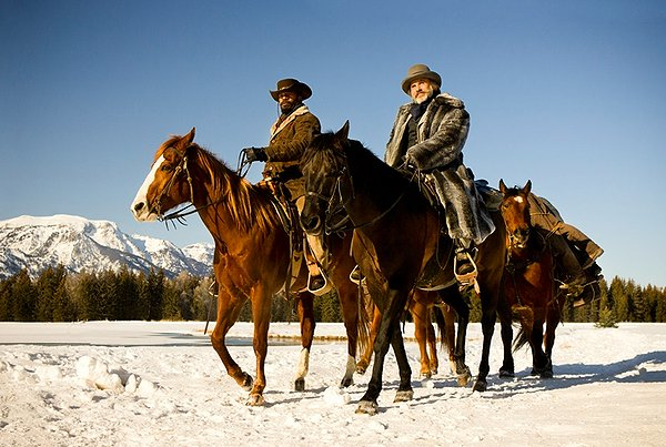 Django (Jamie Foxx) and Dr. King Schultz (Christoph Waltz) travel American plotting revenge.