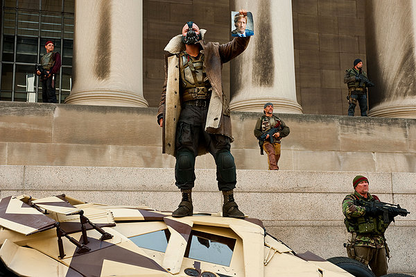 "Bane (Tom Hardy) returns Gotham to ""the people."""
