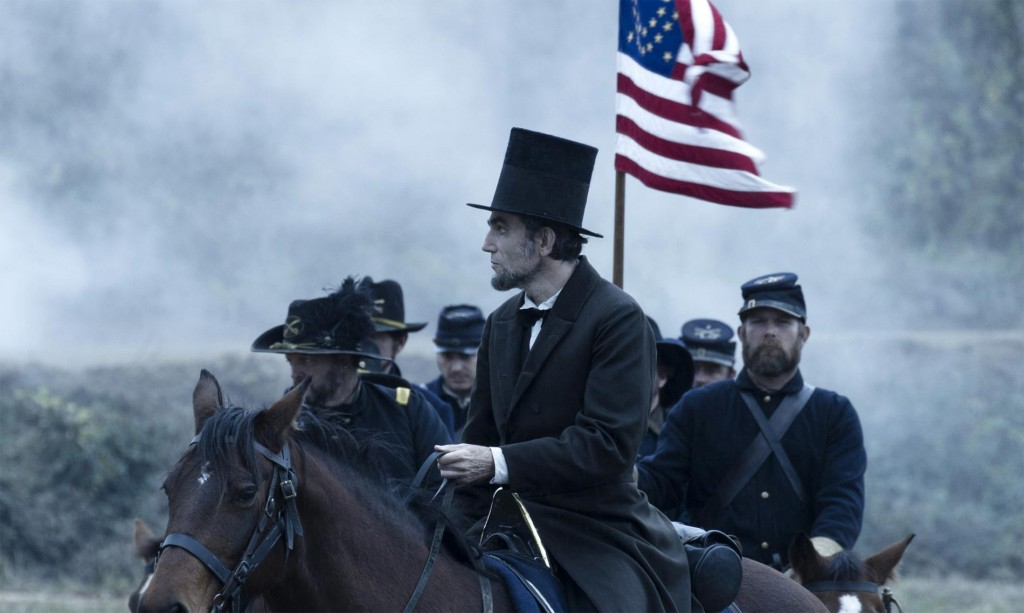 Abraham Lincoln (Daniel Day-Lewis) looks over the battlefield.