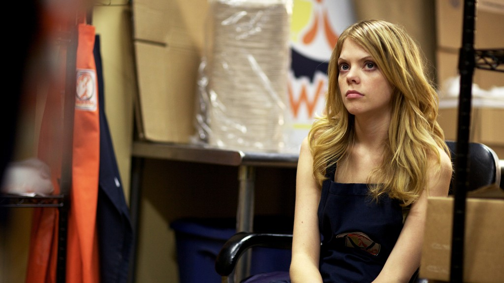 Becky (Dreama Walker) waits for her ordeal to be over.