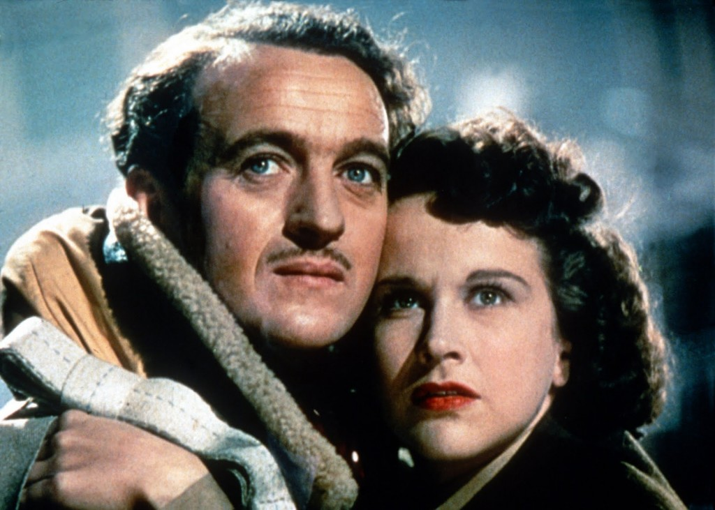 Peter Carter (David Niven) and June (Kim Hunter).