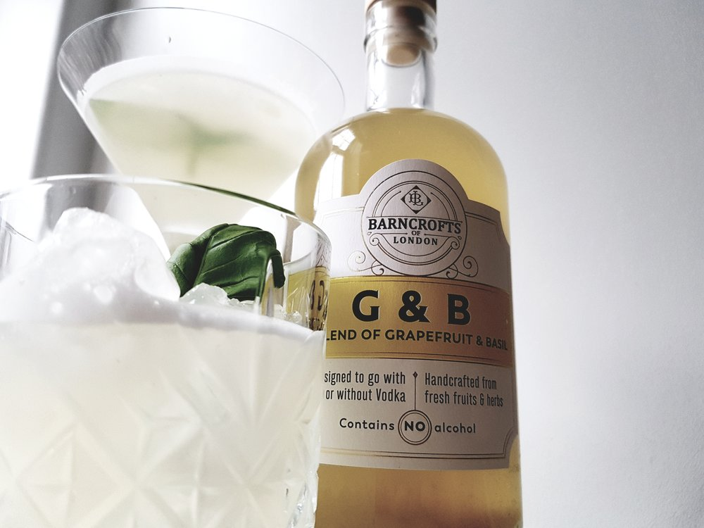 sharp like a tailor made suit from milan - G&B is a summer flavour that's great with vodka or prosecco