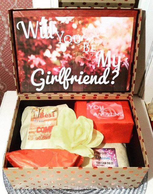 Will You Be My Girlfriend Gift Box Youarebeautifulbox
