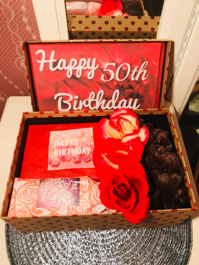 50th Birthday Gift Box For Wife Mom