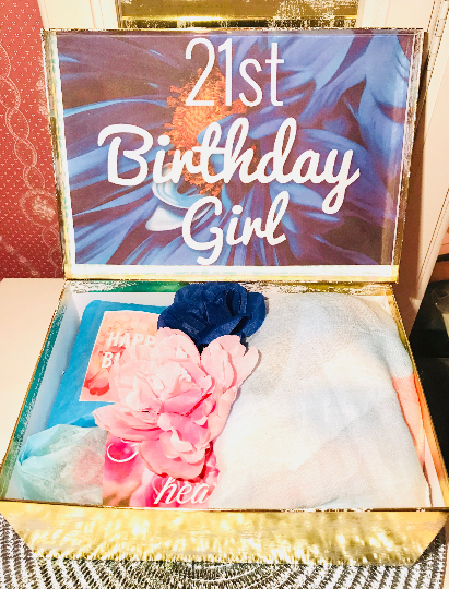 21st Birthday Gift Box Girl