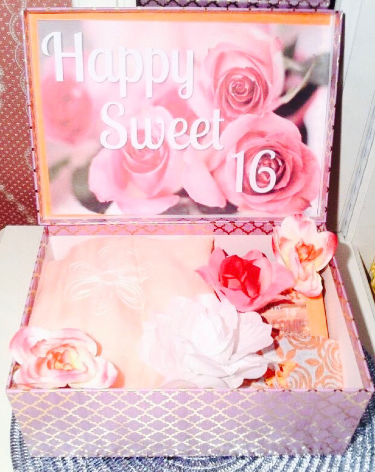 Sweet 16 Birthday Gift Box
