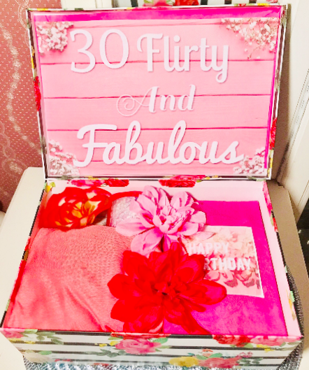 30 Flirty And Fabulous Gift Box 30th Birthday Celebration Personized