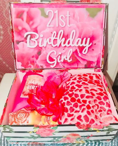 21st Birthday Gift Box Girl