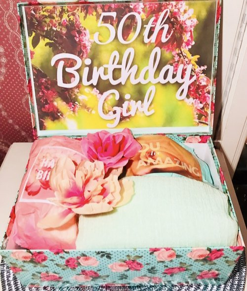 50th Birthday YouAreBeautifulBox Gift For Wife Mom