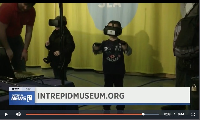 YokeyPokey Virtual Reality Club at the Intrepid Museum Kids week