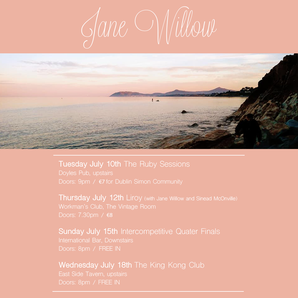 Jane Willow gig poster July 2018