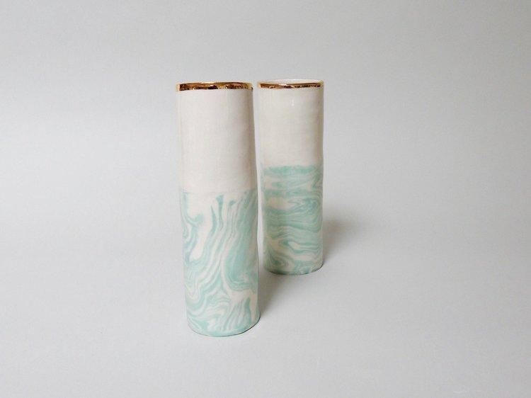 Mint Spiral Vase Isabel Halley Ceramics