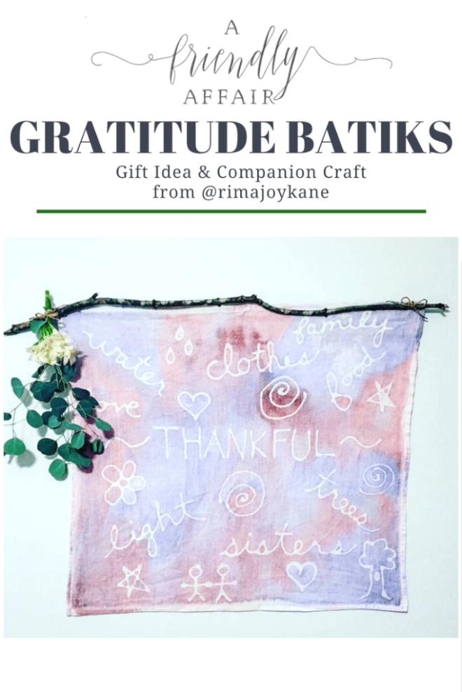 Batik Kids Craft to Cultivate Gratitude in your Children