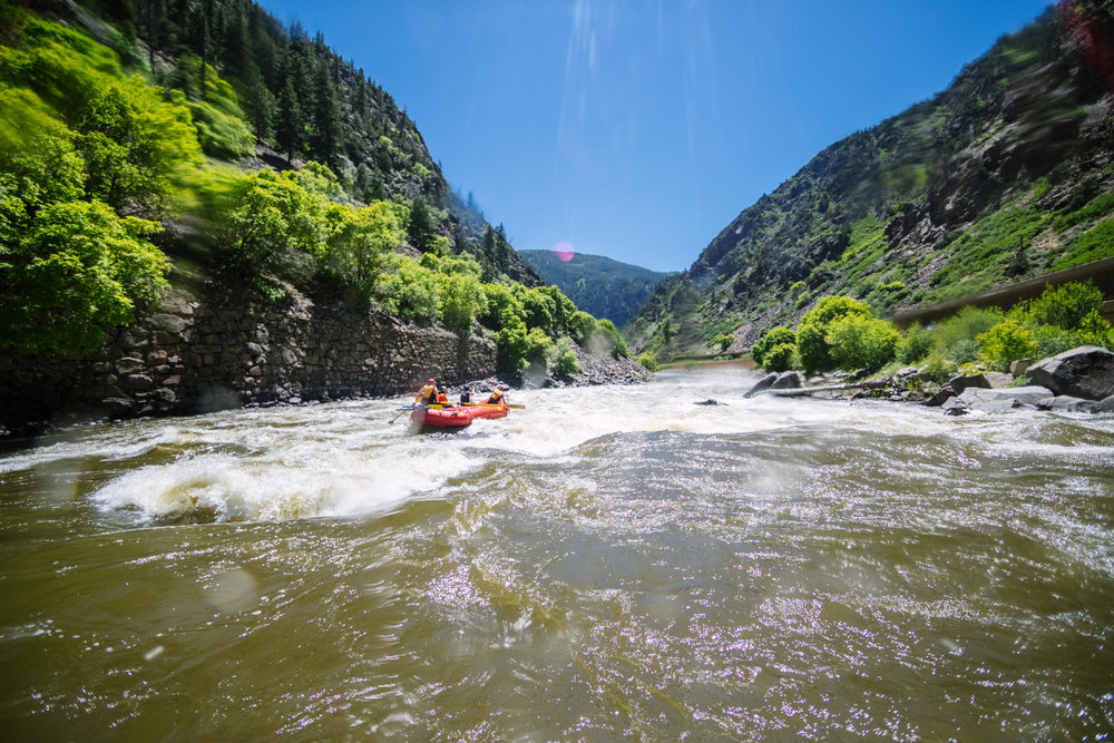 NOONER - a satisfyingly quick whitewater rafting experience.