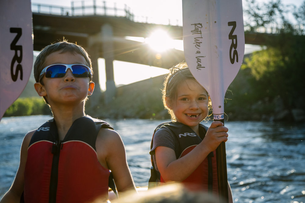 HAPPYPADDLERS - Kiddos are tops at Defiance.