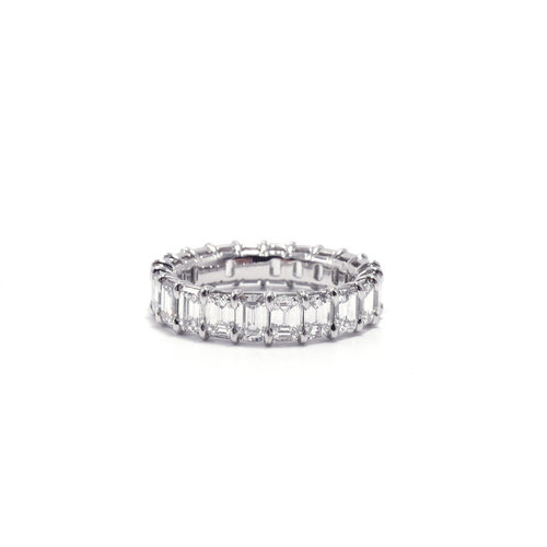 and emer love eternity princess diamond emerald bands plat band cut pave platinum in yhst womens my