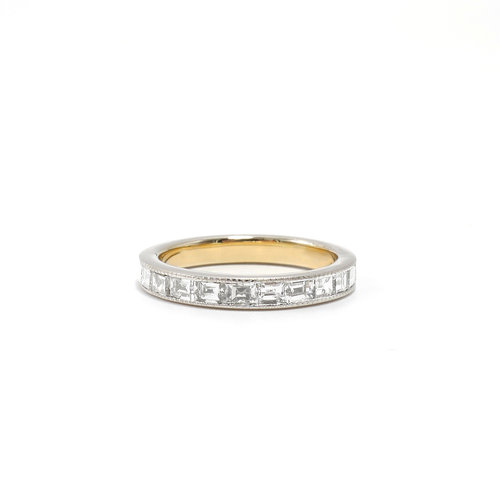 yellow band products shared anniversary gold eternity diamond prong bands