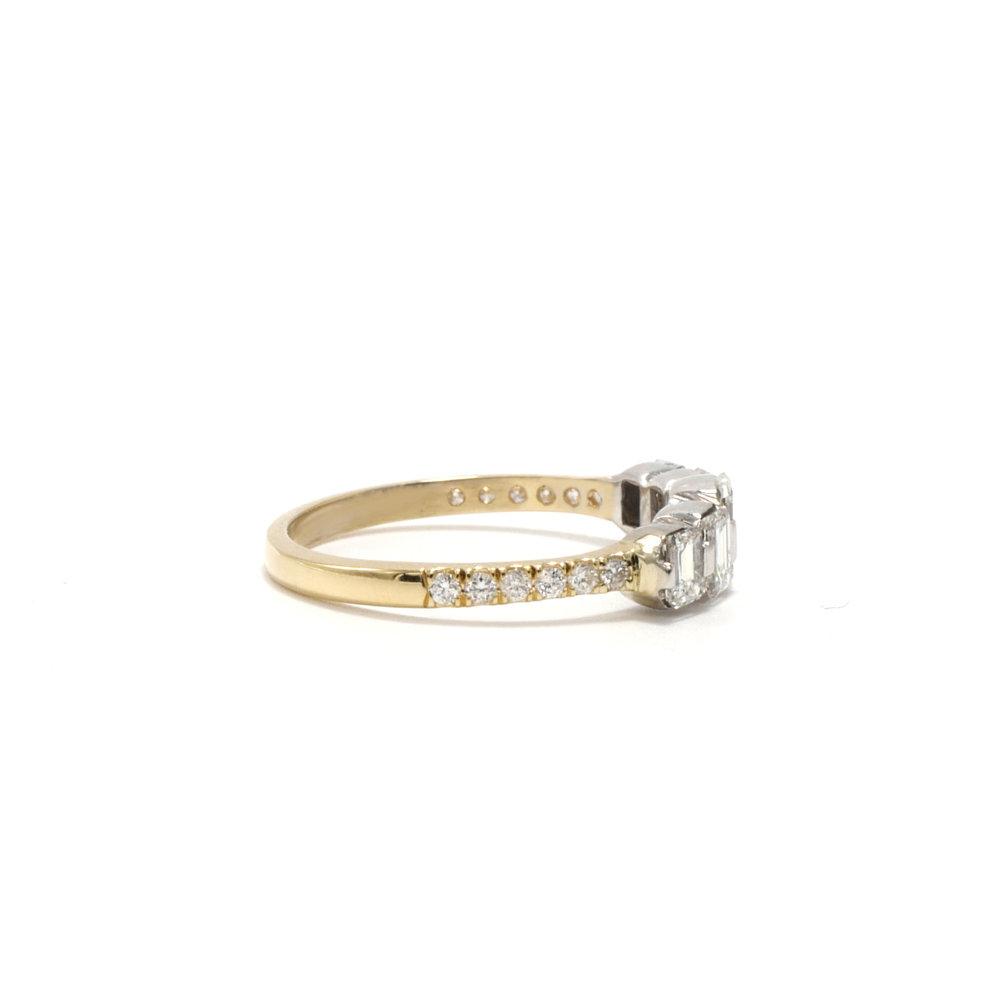 Quinn Emerald Cut Engagement Ring