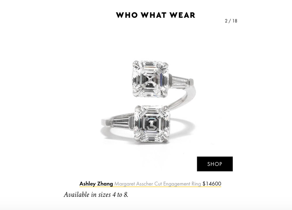 Who What Wear March 2018   https://www.whowhatwear.com/two-stone-engagement-rings--5aa95f213850c
