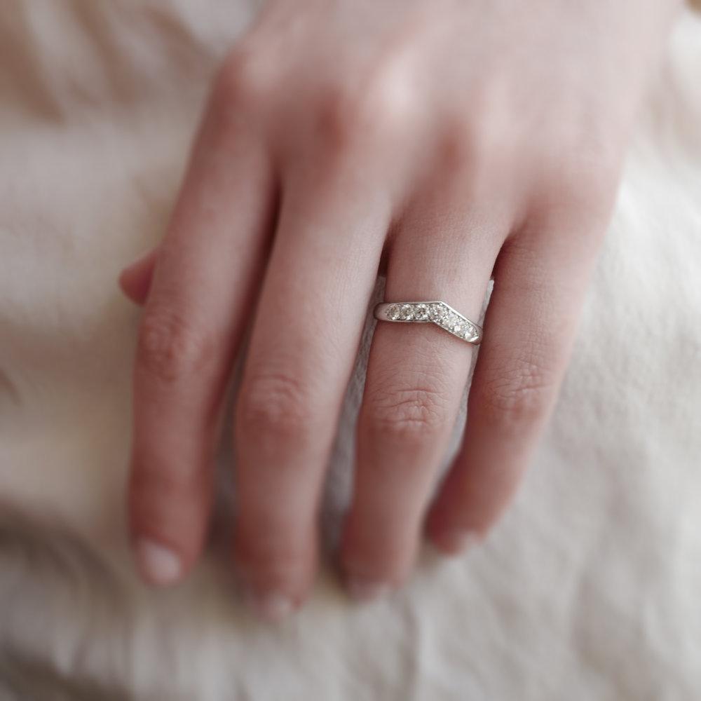 dba6aa3ad VINTAGE TIFFANY NESTING WEDDING BAND — Ashley Zhang Jewelry