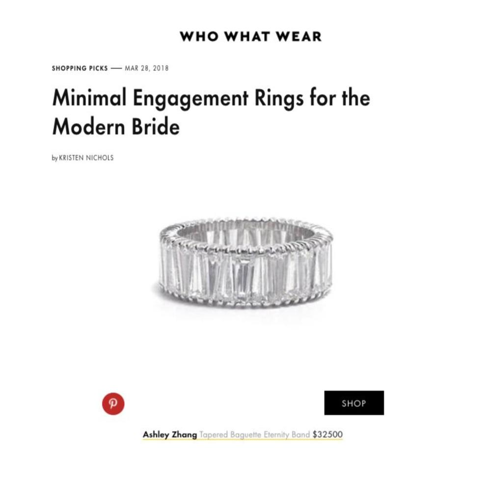 Who What Wear March 2018   https://www.whowhatwear.com/minimalist-engagement-rings--5aba9ec826077/slide4