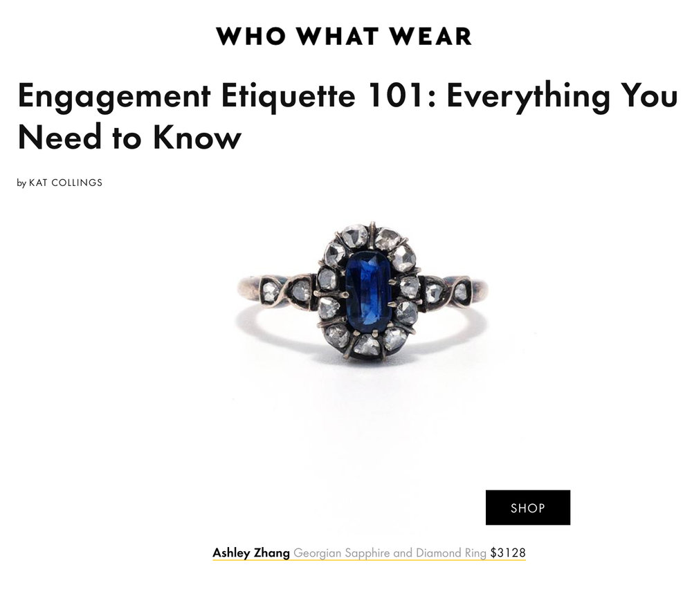 Who What Wear April   http://www.whowhatwear.com/engagement-etiquette
