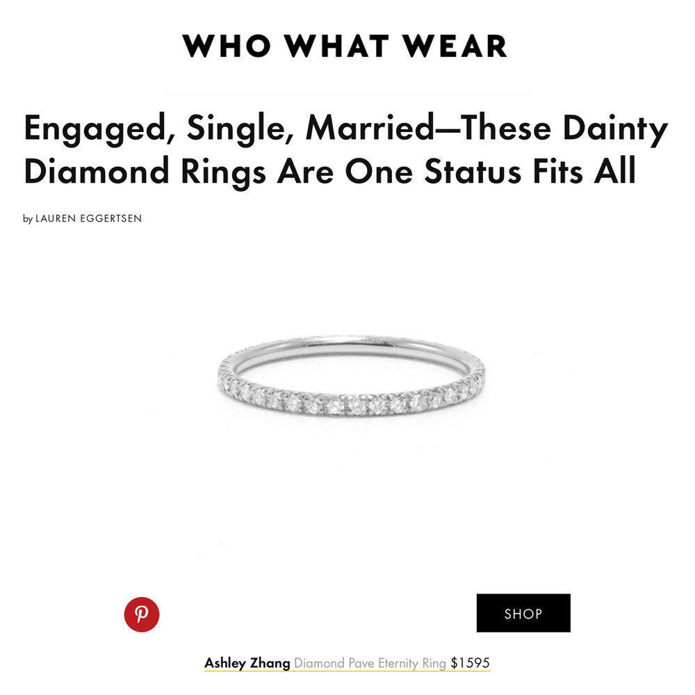 Who What Wear May 2018   https://www.whowhatwear.com/dainty-diamond-rings--5ae741a19f42e/slide20