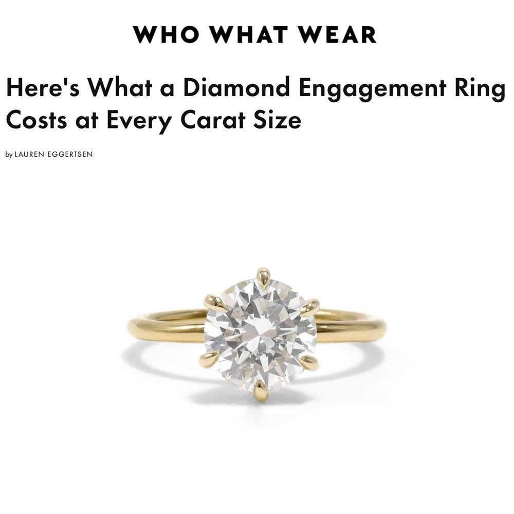 Who What Wear June 2018   https://www.whowhatwear.com/diamond-carat-sizes--5b33a6e7e895 4