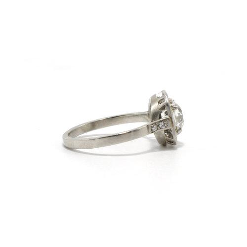4f7029330 MONTAURAUX ENGAGEMENT RING Art Deco European Cut Engagement Ring
