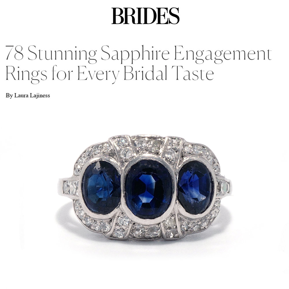 Brides August 2018   https://www.brides.com/story/sapphire-engagement-rings-september-birthstone