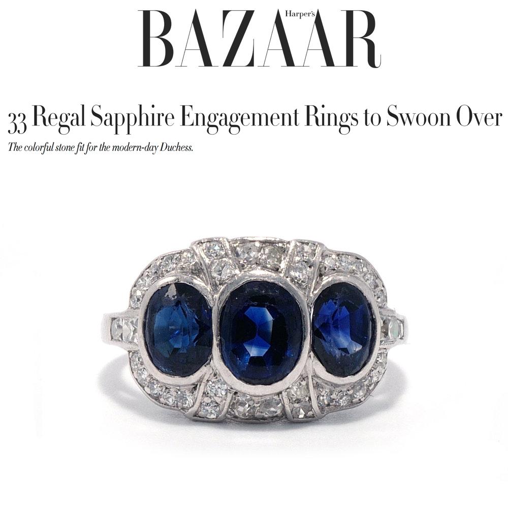 Harper's Bazaar August 2018   https://www.harpersbazaar.com/wedding/bridal-fashion/g22853579/sapphire-engagement-rings/