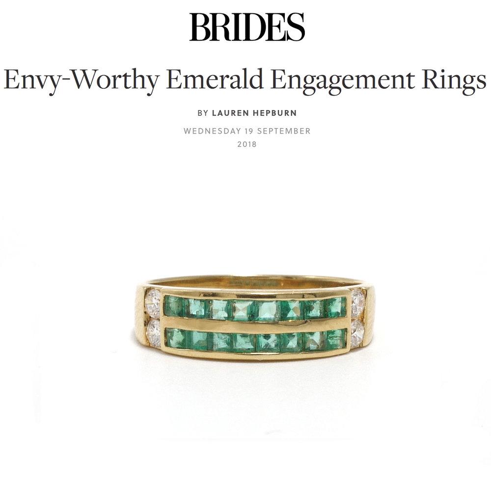 Brides UK September 2018   https://www.bridesmagazine.co.uk/gallery/envy-worthy-emerald-engagement-rings