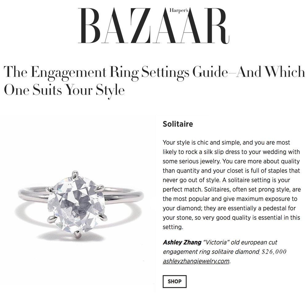 Harper's Bazaar October 2018   https://www.harpersbazaar.com/wedding/bridal-fashion/g23552398/engagement-ring-settings-styles-guide/?slide=1