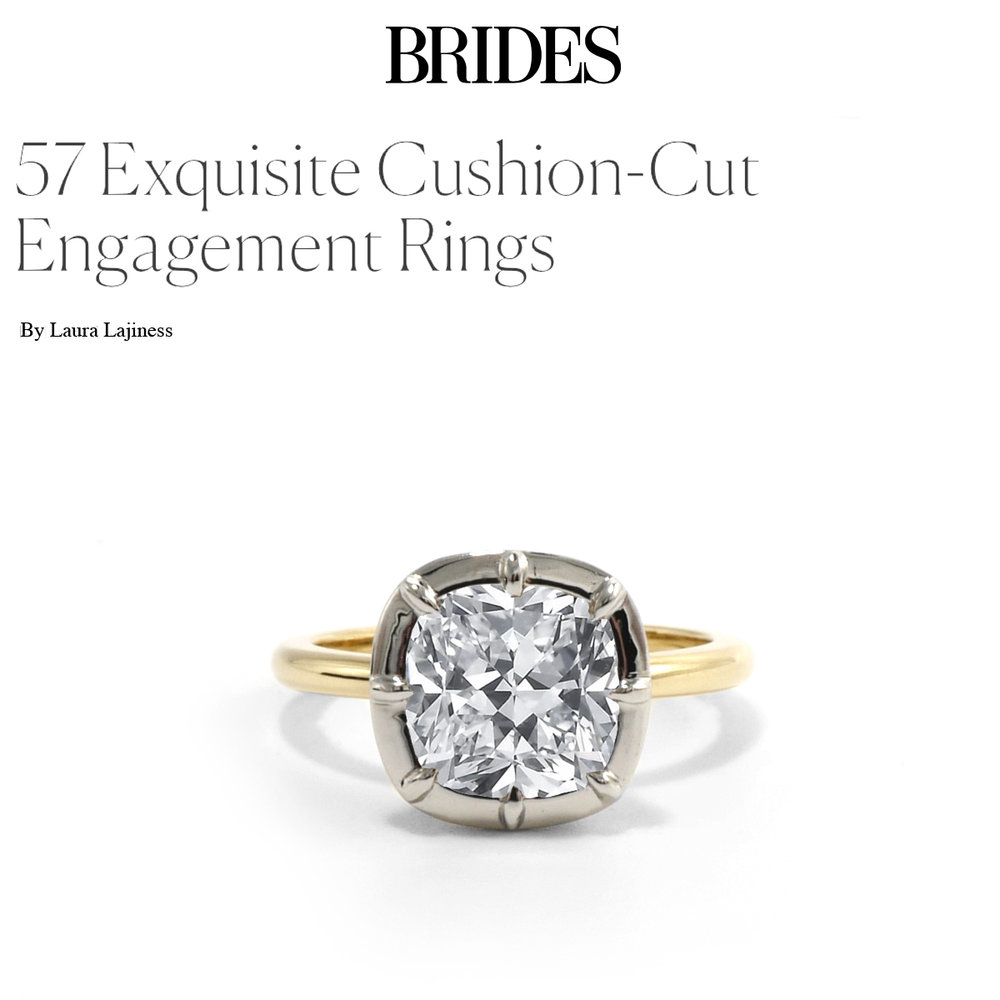 Brides September 2018   https://www.brides.com/gallery/cushion-cut-engagement-rings