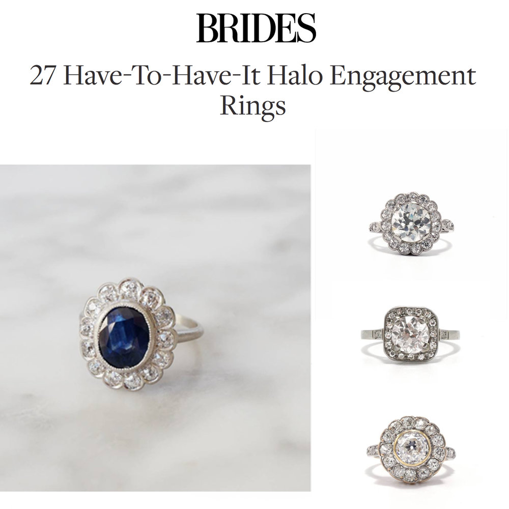 Brides October 2018   https://www.bridesmagazine.co.uk/gallery/have-to-have-it-halo-engagement-rings