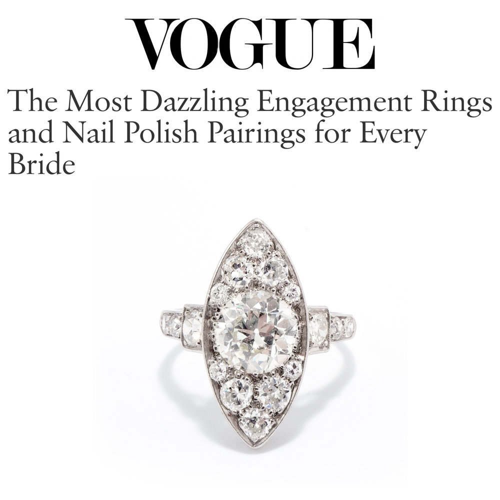 Vogue October 2018   https://www.vogue.com/article/best-engagement-rings-nail-polish-manicure-diamond-bride-wedding
