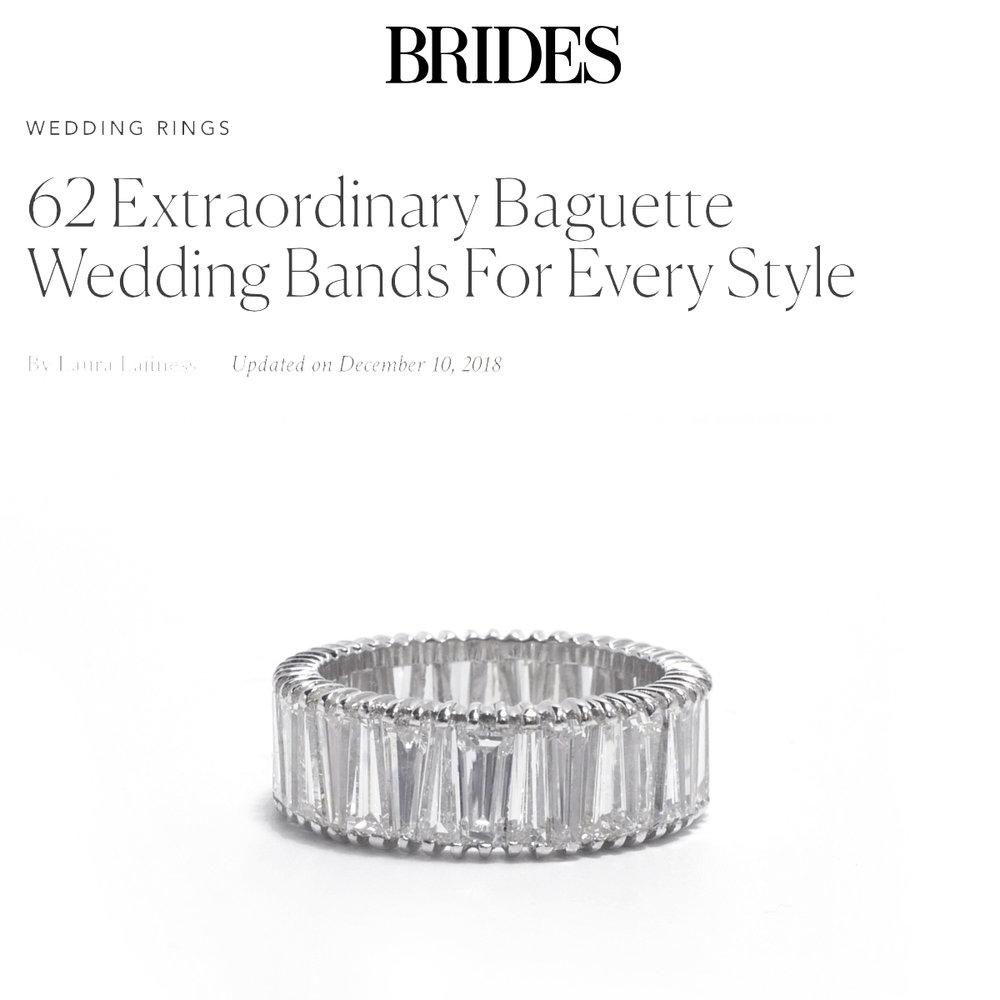 Brides December 2018   https://www.brides.com/gallery/baguette-wedding-bands