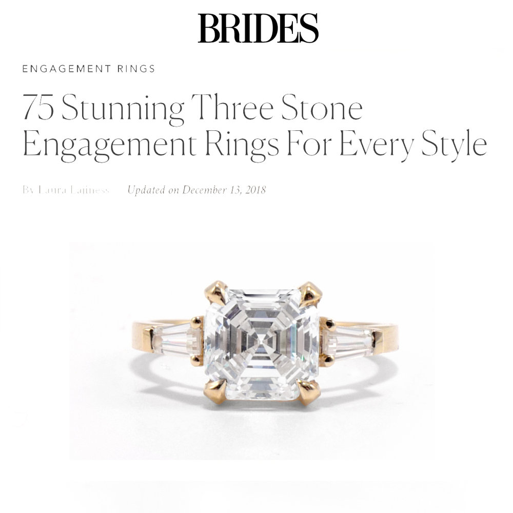 Brides December   https://www.brides.com/gallery/three-stone-engagement-rings-diamond-engagement-rings