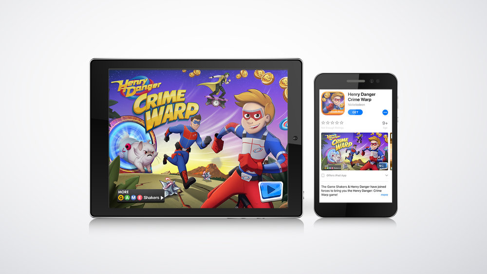 Mobile Games and Apps - As mobile games and apps continue to grow, we strive to stay ahead of the ever-evolving industry. Similar to promos, we also help visualize your finished app in a way that gets users excited!Check out the example on the left, where we brought Nickelodeon's latest app content to life for the video preview in the iTunes Store.