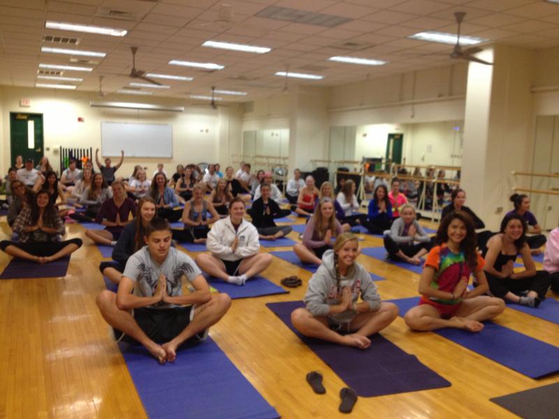 Kick-off Yoga Sesh at Glenbard West High School, Glen Ellyn, IL
