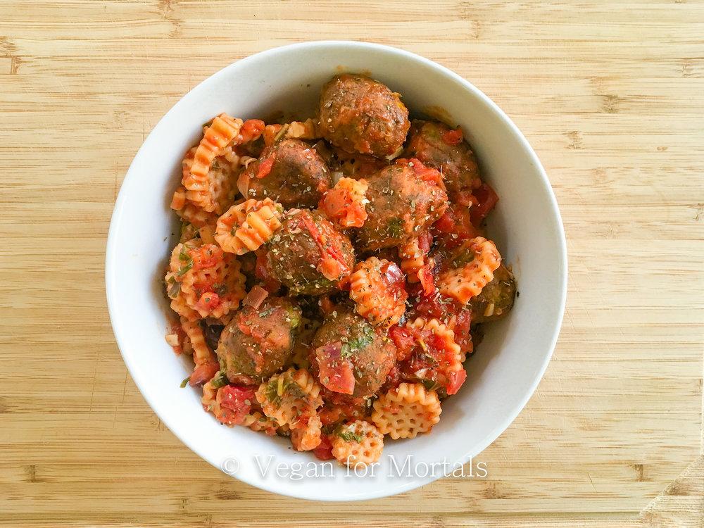 Vegan Pasta & Veg Balls